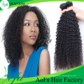 100%Необработанные Девственница Монгольский Вьющиеся Волосы Выдвижение Человеческих Волос Remy