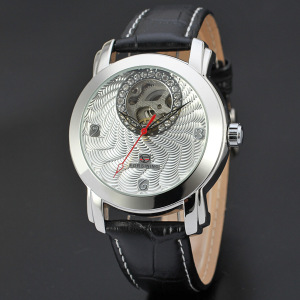 Automatic movement leather band male watch