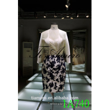1A740 Vestido de cetim formal sem alças Comprimento do joelho Trajes de mulher 2016 Novo design