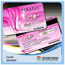 Cartão inteligente profissional da sociedade do PVC com magnético