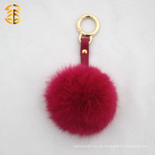 2017 heißer verkaufender preiswerter Trinket 8CM Kaninchen-Pelz-Ball Keychain
