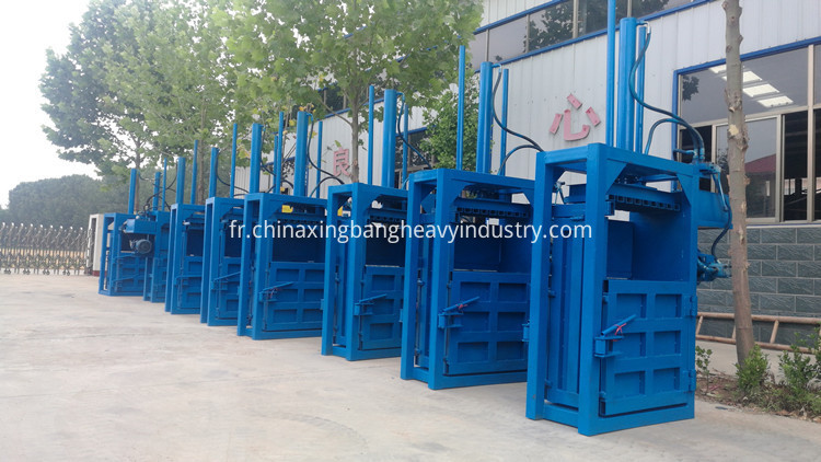 Waste paper baling machine