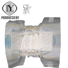 Pañal de bebé suave y transpirable y desechable OEM en los tipos de Vecro