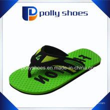 Mens Flip Flop Sandals Tamanho 9 Verde Tanga De Borracha Vermelha