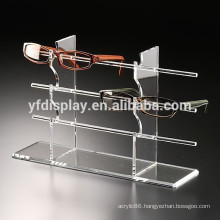 Clear Acrylic Sunglasses Eyeglasses Display Stand Holder Shelf