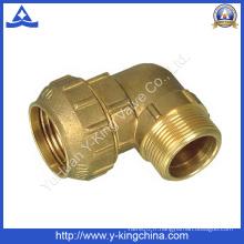 Filetage mâle à coude en laiton / ajustement de tuyauterie espagnole (YD-6044)