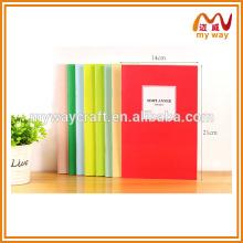 Lindo livro de costura de sela simples, caderno escolar barato