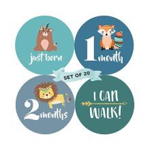 Детские ежемесячные наклейки на заказ Печатные виниловые детские наклейки «Первый год памяти»