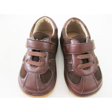 Brown Suede Baby Boy Squeaky Shoes
