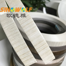 Ujian PVC Edge Banding Woodgrain High Gloss Surface
