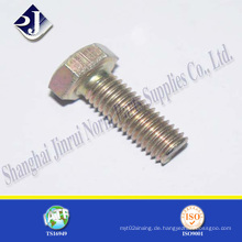 Gelb Zinc Finished Hex Bolt