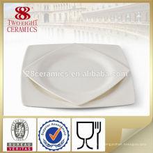 Assiettes carrées blanches pas cher guangzhou haoxin verre à manger