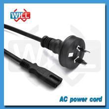 De alta calidad Australia estándar 10A 250V 2 pines de enchufe de cable de alimentación de CA