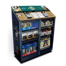Loja de varejo de qualidade Produtos para animais de estimação móveis Cobertura metálica Gabinete de exibição de bloqueio frontal de vidro