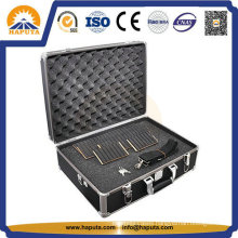 Black DJ Flight Aluminum Tool Case with Egg Sponge (HT-3001)