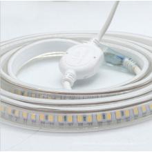 100м/рулон Открытый IP65 Водонепроницаемый 220 В супер яркий белый свет/ теплый белый светодиодные полосы 3038