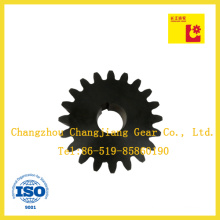 Chemical Black Finish Spur Gear with Keyway