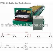 Doppelschicht-Umformmaschine, Wellblech, Wandplatte