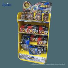 Pantalla de gancho de cartón de supermercado para el juguete, pantalla de estantería de exhibición de cartón