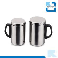 500ml Taza de acero inoxidable y taza de viaje populares con diseño de pared doble