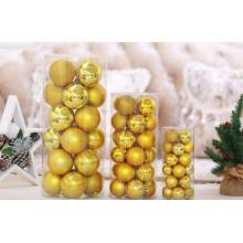 plastic colour christmas balls