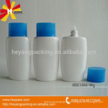 Botella de loción HDPE oval de cabeza 80ml