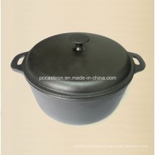 7.0L Preseasoned Cast Iron Casserole Dia 28cm