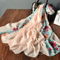 Mignon imprimé floral printemps en gros imprimé personnalisé multi usure fantaisie écharpe pour les femmes