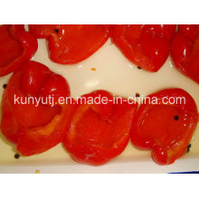 Jarras de cristal de dulce de pimiento rojo