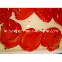 Frasco de vidro doce pimenta vermelha Metades