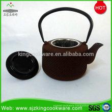Cast iron enamel tea kettle with LFGB SGS FDA