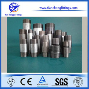 Bsp e NPT Threaded Screwed Gi Steel Welding Nipple