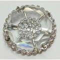 Round Rhinestone Alloy Shoe Buckles with Clear Acrylic Covered