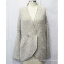 Мода V Шея с длинным рукавом джемпер трикотажные свитера
