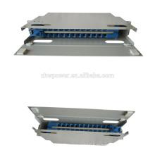 24-жильная волоконно-оптическая коммутационная панель, патч-панель типа pull-push, 19-дюймовая коммутационная панель для оптоволоконного адаптера sc