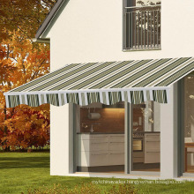 Retractable Awning Sun Shade Shelter Canopy Manual Patio Shade
