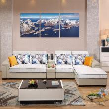 Diseños y precios de sofá de madera de calidad dorada