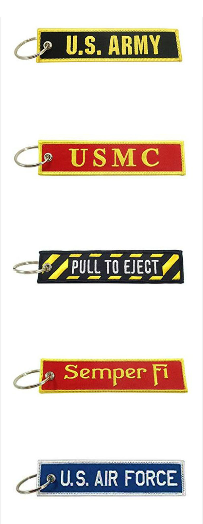 US Army Embroidered Key Chain