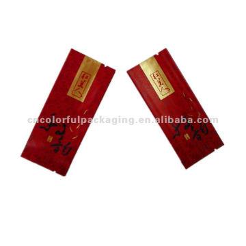 bolsas de embalaje de papel de escudete lateral pequeño para el té