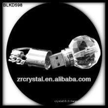 boule forme cristal USB flash dirve