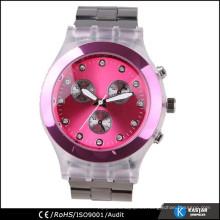 Encantadora señora reloj reloj, caja de reloj de plástico