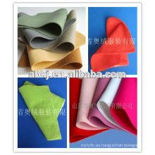Fieltros no tejidos punzonados aguja de fieltro de lana de alta calidad, 50% lana, 50% poliéster