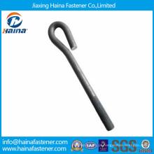 China fez M8-M56 carbono aço / aço inoxidável fundação parafuso de ancoragem