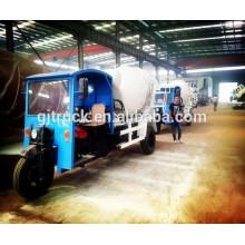 túnel dedicado agricultura uso 1.5cbm 2cbm tri ruedas 3 ruedas pequeño hormigonera triciclo camión mezclador