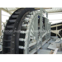 Highly Inclined Sidewall Corrugated Conveyor Belt