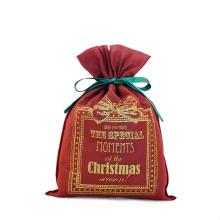 Genießen Sie Weihnachtsrotes Drawstring-Verpackungs-Geschenk