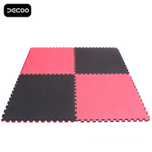 Red black Color Five Strips Grappling EVA Tatami Puzzle Mat