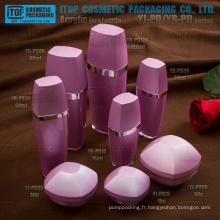 Produit de beauté fantastique belle doubles couches couleur personnalisable luxe cristal clair acrylique conteneur
