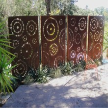 Decorative Corten Steel Screen Panels