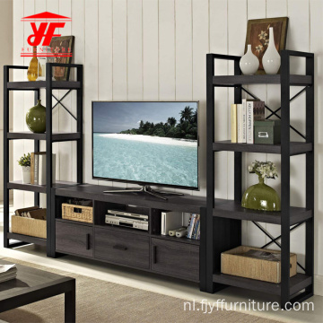 Moderne houten modulaire tv-eenheid Set Design